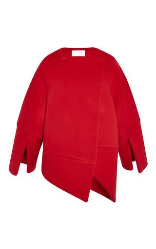 Medium antonio berardi red scarlet red double coating wool coat