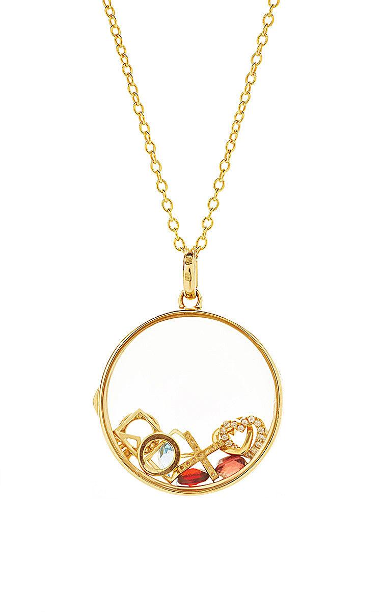 Loquet London 18kt gold Heart Charm necklace - Yellow & Orange VaCVum8J