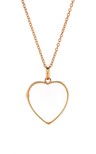 Medium loquet london gold 32in yellow gold chain with 14k yellow gold l heart loquet