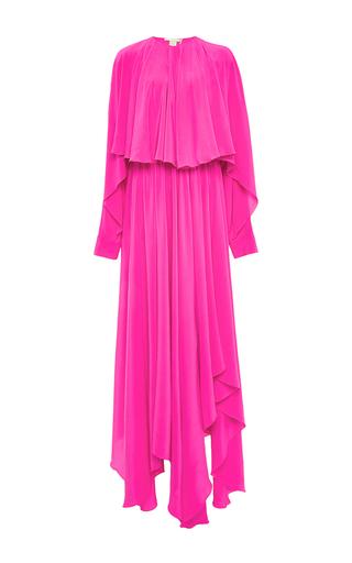 Medium antonio berardi pink antonio berardi silk magenta capelet dress