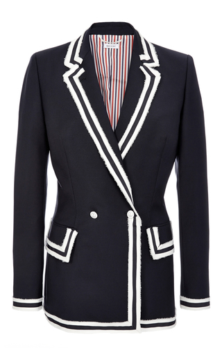 Medium thom browne blue double breasted sculpted jacket