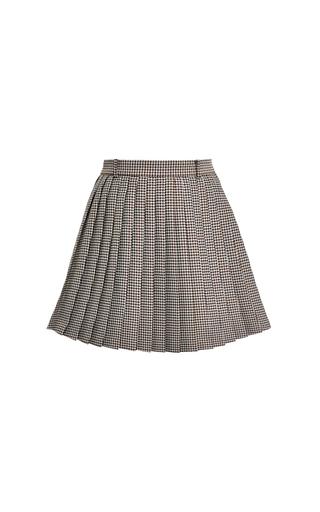 Medium thom browne multi pleated beltloop mini skirt