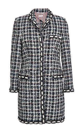 Medium thom browne multi classic chesterfield coat