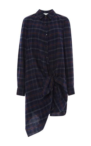 Medium thakoon addition multi flannel side tie dress