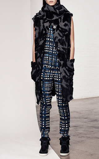 Painted Grid Georgette Open Side Tank by THAKOON ADDITION Now Available on Moda Operandi