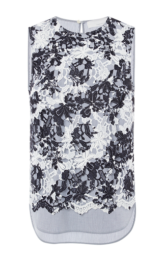 Medium thakoon addition black printed lace tank