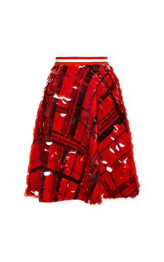 Medium preen red red reversible carole skirt