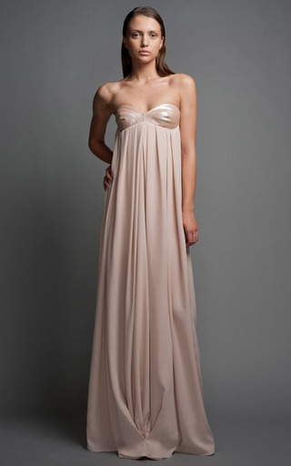 Medium antonio berardi pink empire waist gown