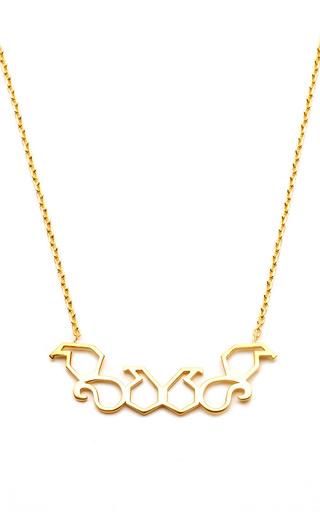 Medium leivankash gold yellow plated silver roshy necklace