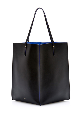 Medium maiyet black sia shopper in black and blue