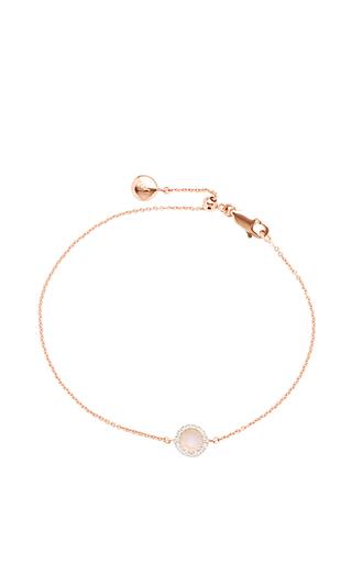 Medium monica vinader gold rose gold plated moonstone and diamond diva mini circle bracelet