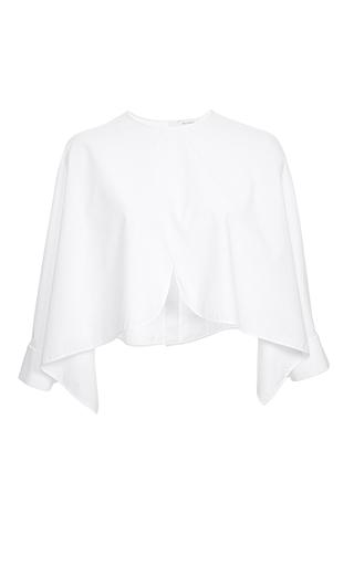 Medium delpozo white cotton poplin blouse dec delivery