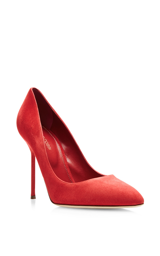Medium sergio rossi pink chichi 105mm suede pump 3