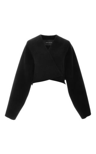 Medium cedric charlier black wool cropped jacket
