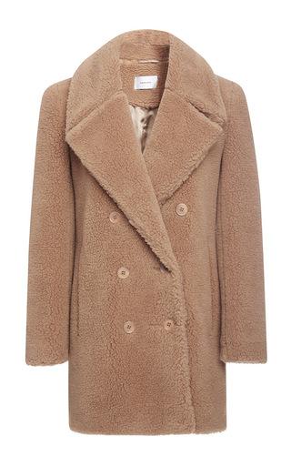 Medium carven brown teddy bear pea coat