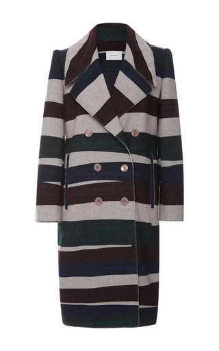 Wide Lapel Wool Coat by CARVEN Now Available on Moda Operandi
