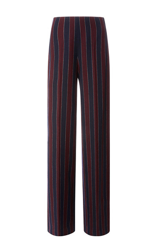 Wide Leg Striped Flannel Trouser by CARVEN Now Available on Moda Operandi