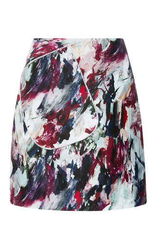 Medium carven print mikado print a line mini skirt