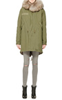Army Parka With Natural Grey Rabbit by MR & MRS ITALY Now Available on Moda Operandi
