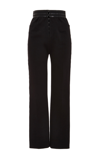 Medium philosophy di lorenzo serafini black stretch gabardine elastic waist trouser