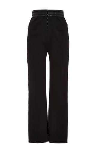 Medium philosophy di lorenzo serafini black stretch gabardine elastic waist trouser