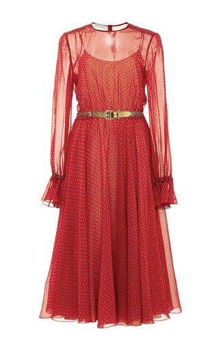 Medium philosophy di lorenzo serafini print printed chiffon ruffle sleeve dress