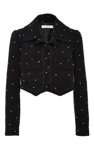 Medium philosophy di lorenzo serafini black embroidered wool crepe jacket