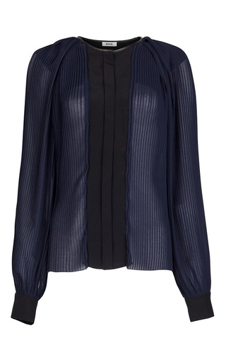 Medium issa blue walter plisse blouse