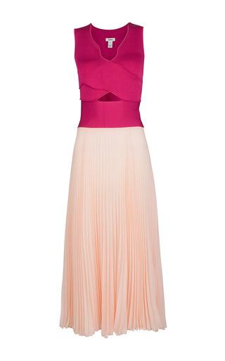 Medium issa pink desert rose vienna plisse dress