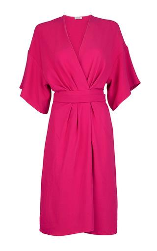 Medium issa red geri crepe stretch cady dress
