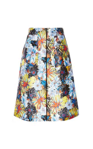 Medium suno print a line patch pocket skirt