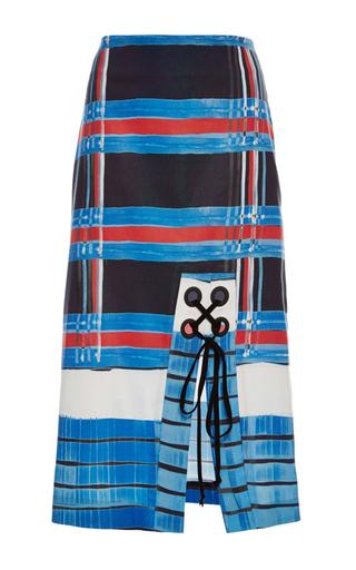 Medium suno blue laced grommet skirt