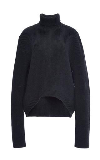 Medium ellery dark grey mia high collar cropped jumper