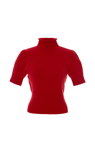 Medium blumarine red ribbed jersey knit short sleeve pullover