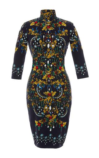 Medium blumarine print jewel print turtleneck dress
