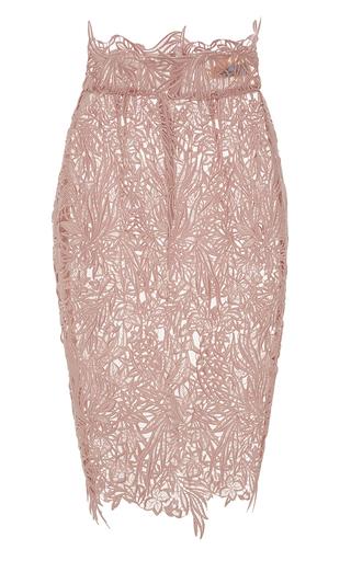 Medium blumarine pink blush macrame lace pencil skirt