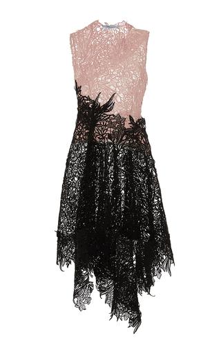 Medium blumarine multi color block macrame lace sleeveless dress
