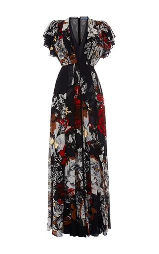 Medium blumarine print floral print silk chiffon gown