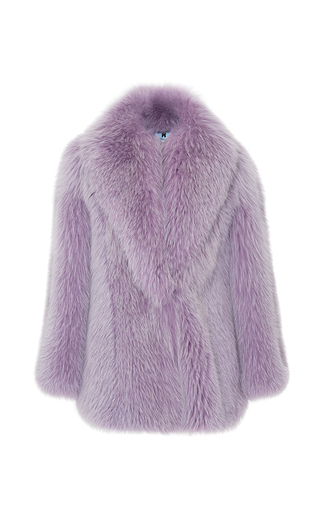 Medium blumarine purple artic marble fox fur coat