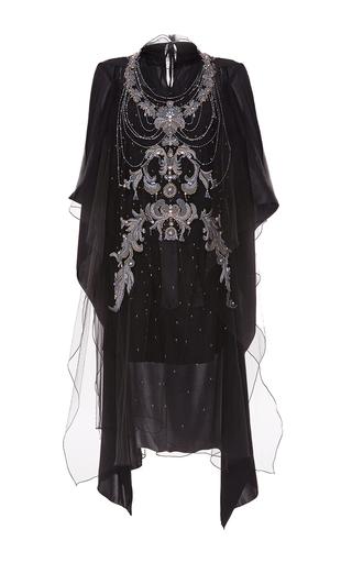 Medium blumarine black embellished tulle overlay dress