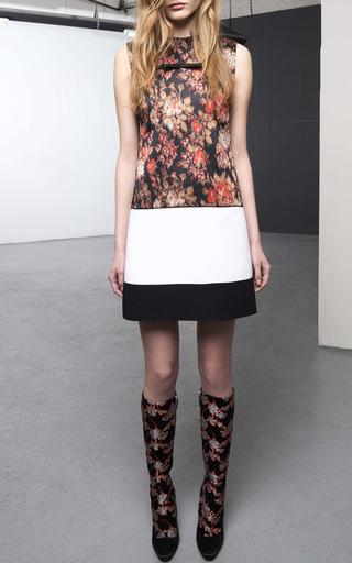 Floral Jacquard Sleeveless Dress by GIAMBATTISTA VALLI Now Available on Moda Operandi