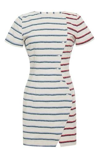 Medium band of outsiders stripe wavy placket dress