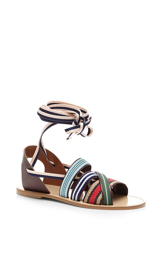 Medium band of outsiders multi multicolor strappy sandal below knee