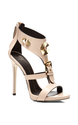 Medium giuseppe zanotti nude nude sandal with hardware and buckle detail