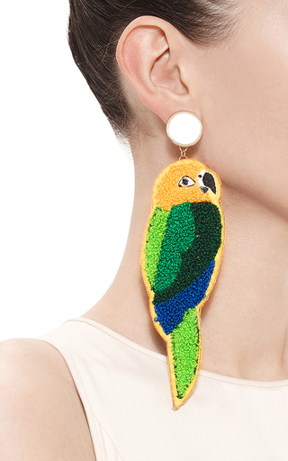 Parrot Earrings by MASTERPEACE Now Available on Moda Operandi