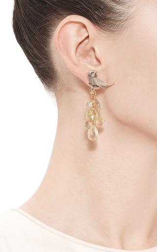 Asymmetrical Lemon Quartz Earrings by MASTERPEACE Now Available on Moda Operandi