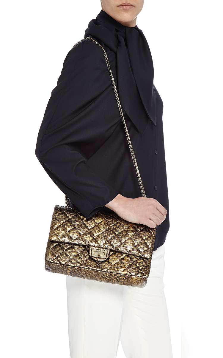 faf8c44ce9 ... Python Quilted 2.55 Reissue 227 Double Flap Bag. CLOSE. Loading