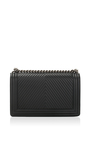 4b18441c572f Chanel Black Herringbone Chevron Calfskin Large Boy Bag by Hermes ...