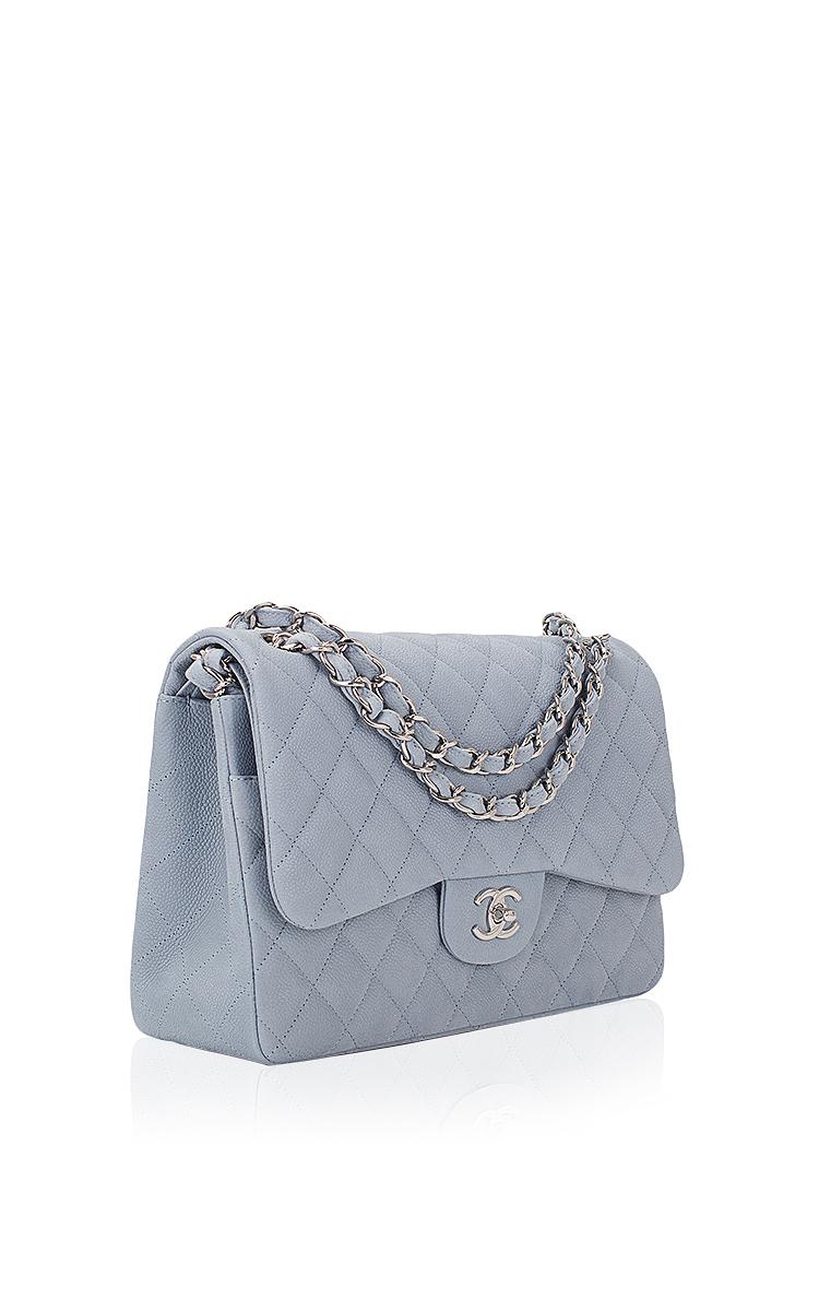 384104722e02 Chanel Pastel Blue Iridescent Quilted Matte Caviar | Moda Operandi