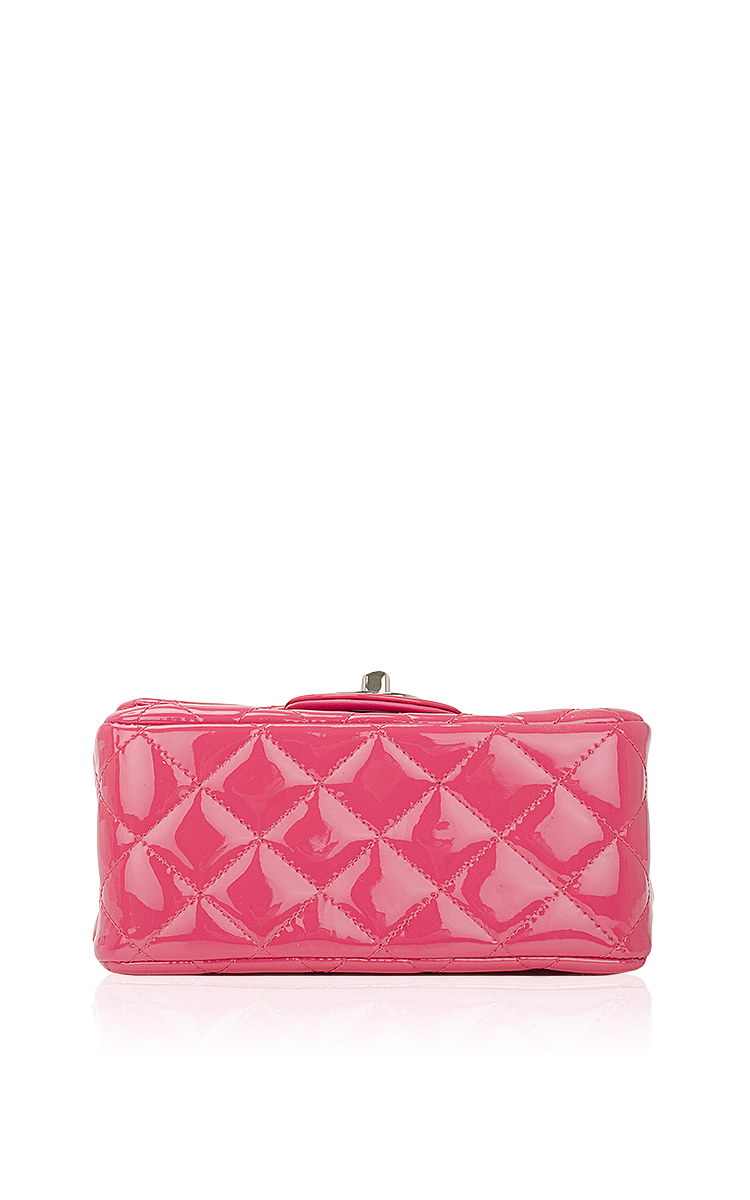 e2e4478e1e01 Hermes VintageChanel Fuchsia Pink Quilted Patent Mini Classic 2.55 Shoulder Flap  Bag. CLOSE. Loading. Loading. Loading